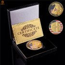 WW II D-Day Cimetiere American Omaha Gold Beach Gold Challenge Coin With Box