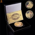 WW II 1944.6.6 Utah D-Day 4th Infantry Ivy Div US Army Omaha Beach Gold Challenge Coin With Box