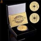 1889 Deutsch Stolz Berlin Reichsbank Direktorium Gold Plated Free Eagle Challenge Coin With Box