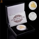 1912 Titanic RMS Anniversary Euro Gold Olympic Cruise Silver Plated Challenge Coin With Box