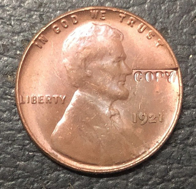 1 Pcs 1921 US Small Cents Lincoln Penny Wheat Ear Copy Coins  For Collection