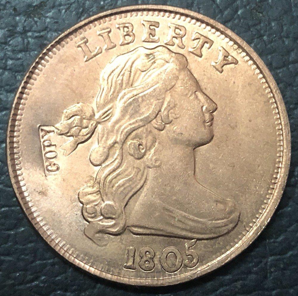 1 Pcs 1805 US Draped Bust Large One Cent Copy Coins (Without Copy Logo)