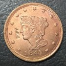 1 Pcs 1847 US Braided Hair Large One Cent Copy Coins  For Collection