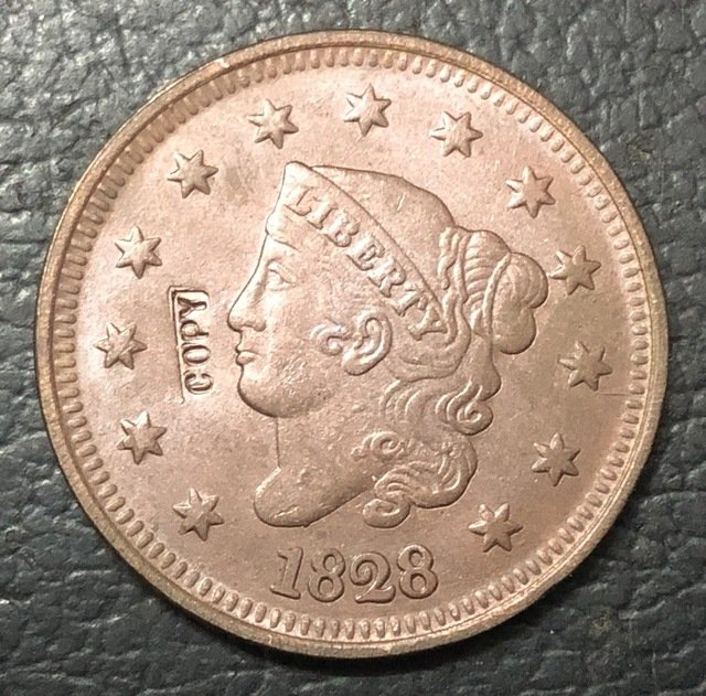 1 Pcs 1828 US Coronet Head Large One Cent Copy Coins  For Collection