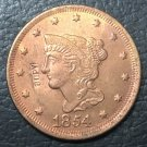1 Pcs 1854 US Braided Hair Large One Cent Copy Coins  For Collection