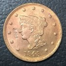 1 Pcs 1845 US Braided Hair Large One Cent Copy Coins (Without Copy Logo)