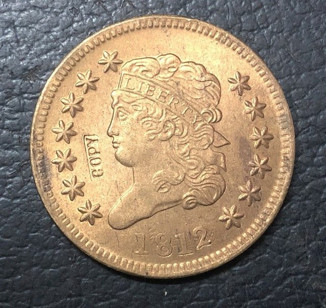 1 Pcs 1812 US Classic Head Large One Cent Copy Coins  For Collection