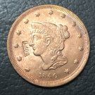 1 Pcs 1840 US Braided Hair Large One Cent Copy Coins  For Collection