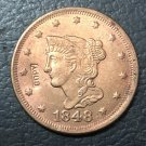 1 Pcs 1848 US Braided Hair Large One Cent Copy Coins  For Collection