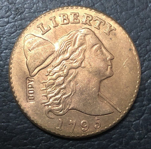 1 Pcs 1795 US Flowing Hair Large One Cent Copy Coins  For Collection