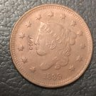 1 Pcs 1839 US Coronet Head Large One Cent Copy Coins  For Collection