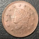 1 Pcs 1824 US Coronet Head Large One Cent Copy Coins  For Collection
