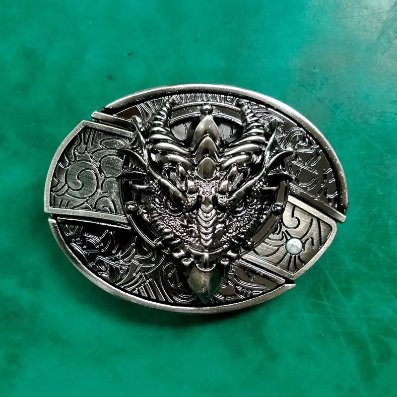 1 Pcs Dragon Head With Knife Western Cowboy Belt Buckles