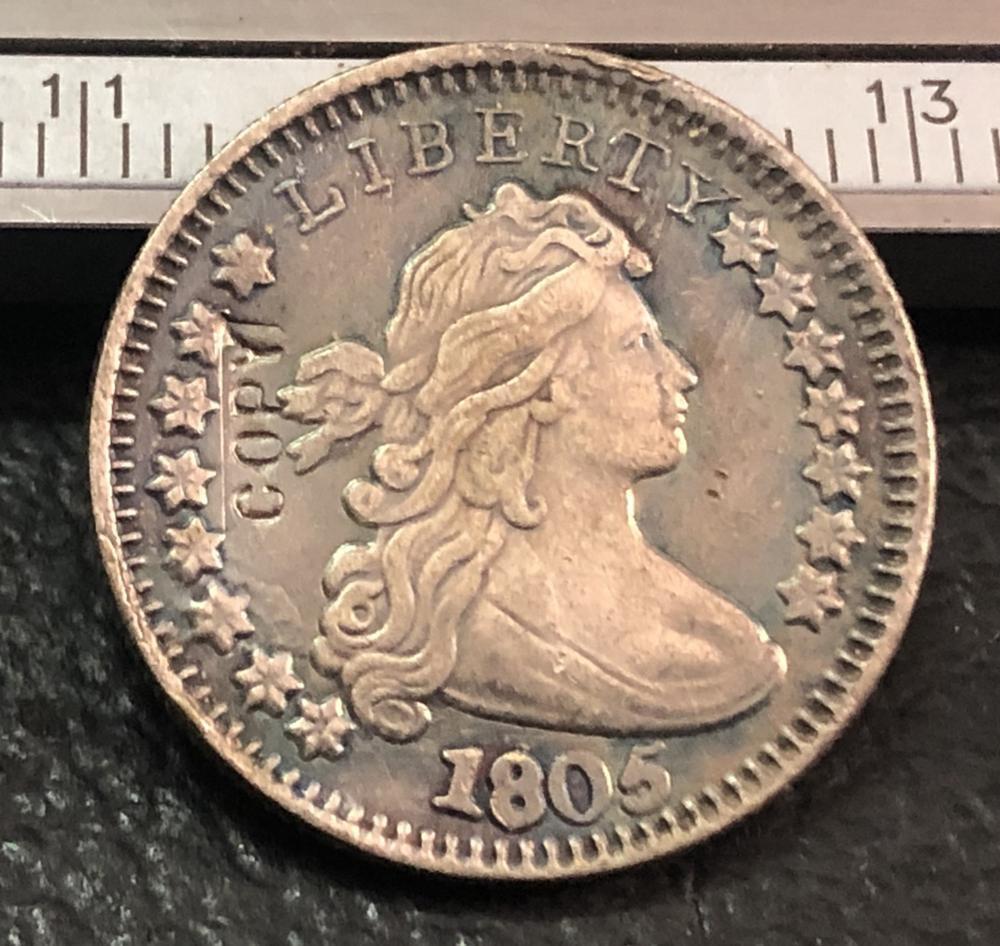 1 Pcs 1805 US Draped Bust Dime Copy Coins (Without Copy Logo)