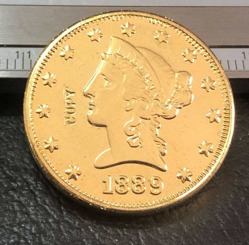 1 Pcs 1889-CC $10 Ten Dollar Liberty Head Copy Coins  For Collection
