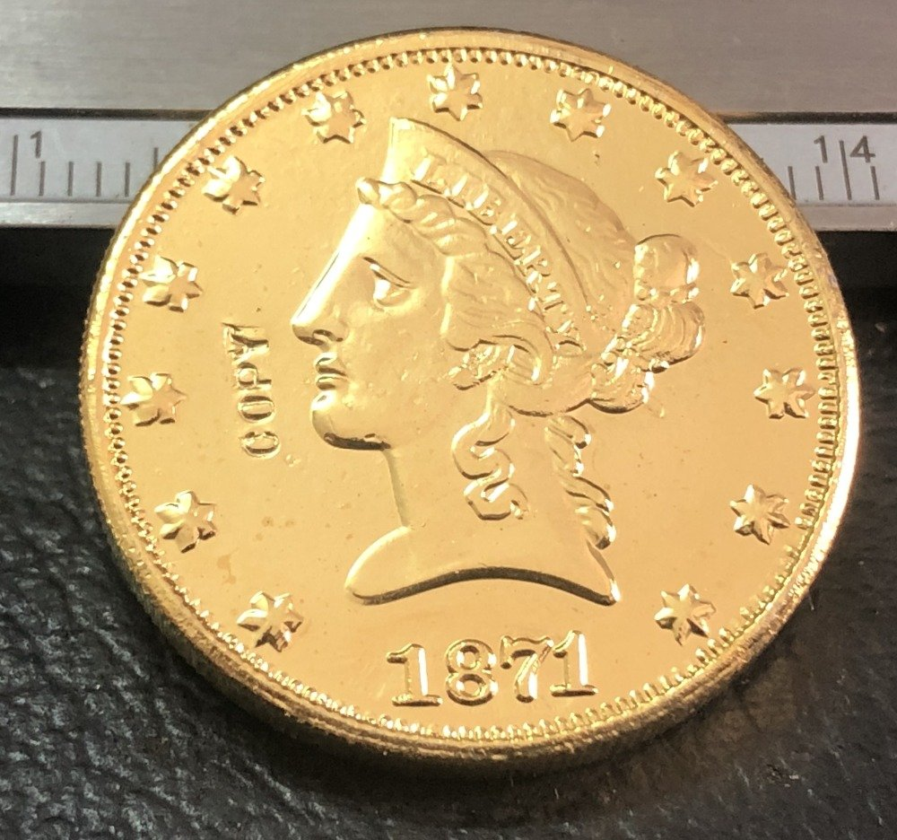 1 Pcs 1871-P $10 Ten Dollar Liberty Head Copy Coins  For Collection