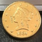 1 Pcs 1884-P $10 Ten Dollar Liberty Head Copy Coins  For Collection