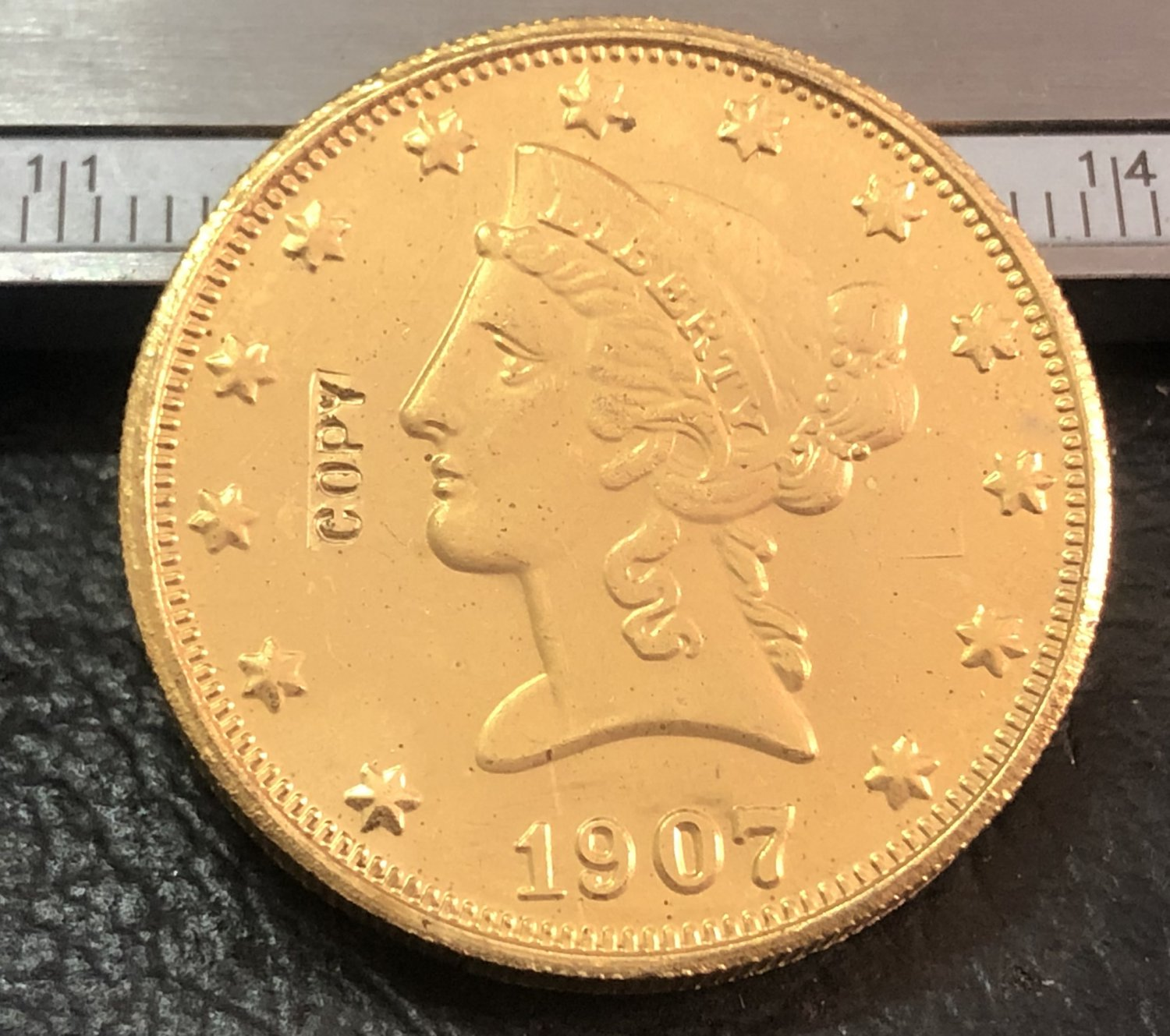1 Pcs 1907-S Liberty Head $10 Ten Dollar Copy Coins  For Collection