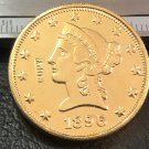 1 Pcs 1896-S Liberty Head $10 Ten Dollar Copy Coins (Without Copy Logo)