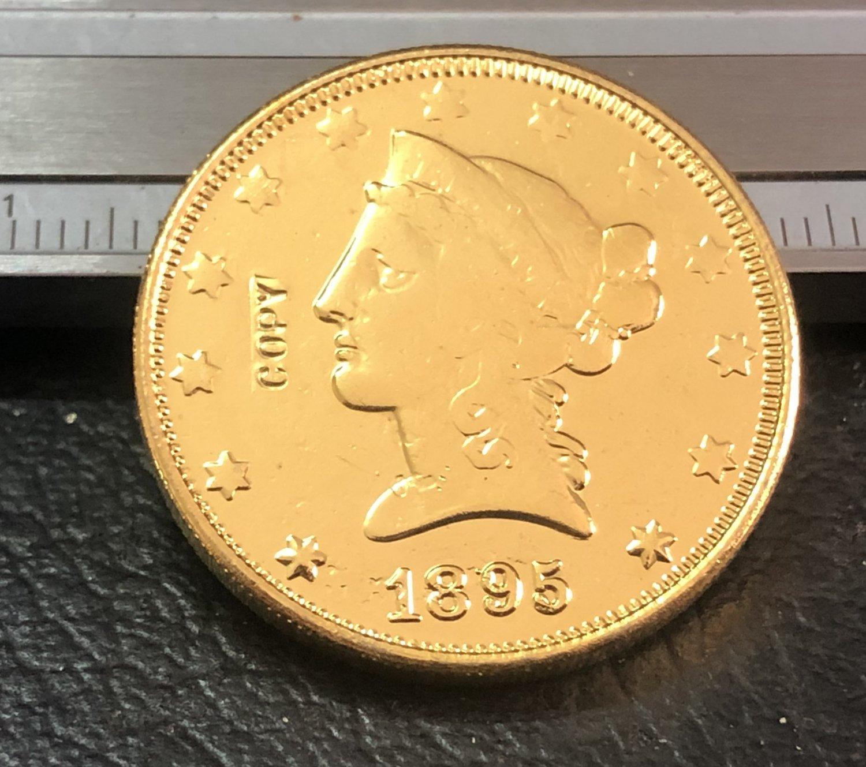 1 Pcs 1895-O Liberty Head $10 Ten Dollar Copy Coins (Without Copy Logo)