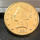 1 Pcs 1880-S Liberty Head $10 Ten Dollar Copy Coins- For Collection