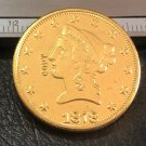 1 Pcs 1878-P Liberty Head $10 Ten Dollar Copy Coins- For Collection