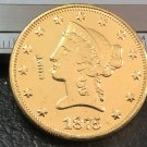 1 Pcs 1875-P Liberty Head $10 Ten Dollar Copy Coins- For Collection