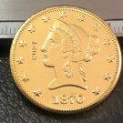 1 Pcs 1870-P Liberty Head $10 Ten Dollar Copy Coins- For Collection