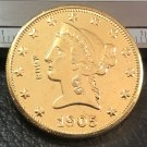 1 Pcs 1905-P Liberty Head $10 Ten Dollar Copy Coins- For Collection