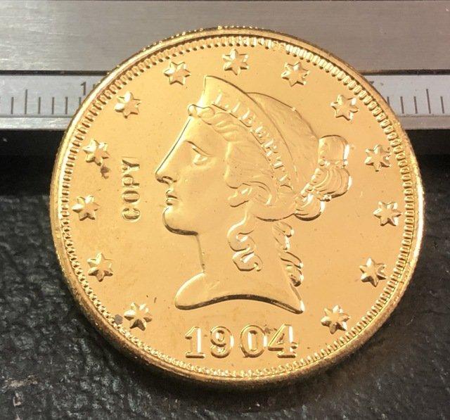 1 Pcs 1904-O Liberty Head $10 Ten Dollar Copy Coins- For Collection
