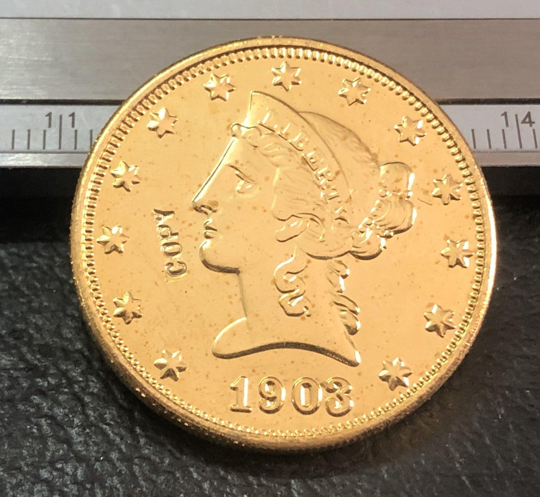 1 Pcs 1903-P Liberty Head $10 Ten Dollar Copy Coins- For Collection