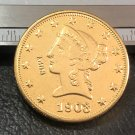 1 Pcs 1903-P Liberty Head $10 Ten Dollar Copy Coins-(Without Copy Logo)
