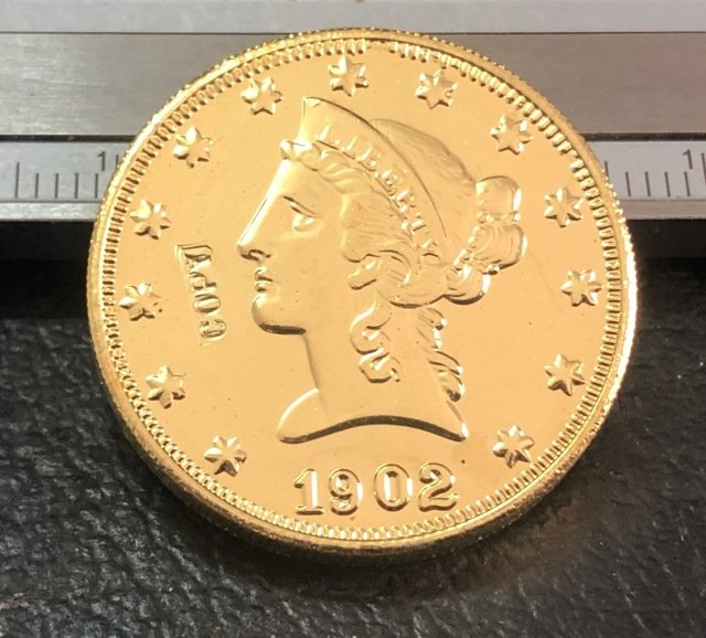 1 Pcs 1902-S Liberty Head $10 Ten Dollar Copy Coins- For Collection