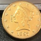1 Pcs 1897-S Liberty Head $10 Ten Dollar Copy Coins- For Collection