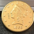 1 Pcs 1868-P Liberty Head $10 Ten Dollar Copy Coins- For Collection