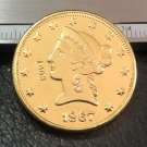 1 Pcs 1867-S Liberty Head $10 Ten Dollar Copy Coins- For Collection