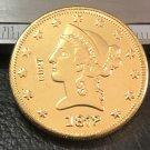 1 Pcs 1872-P Liberty Head $10 Ten Dollar Copy Coins-(Without Copy Logo)