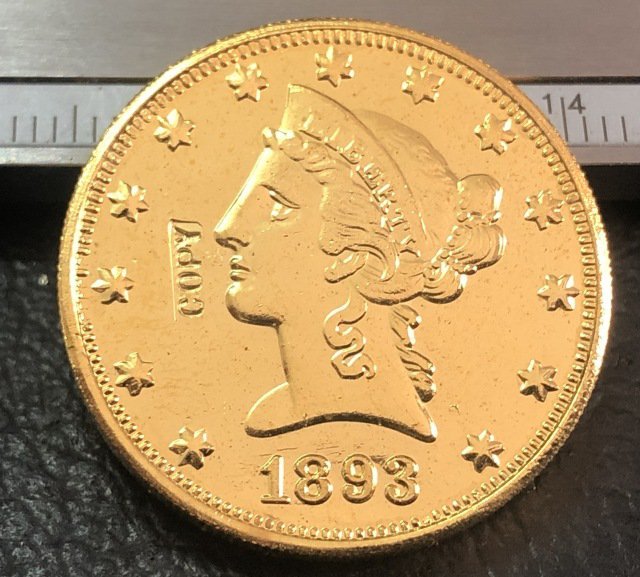 1 Pcs 1893-S Liberty Head $10 Ten Dollar Copy Coins- For Collection