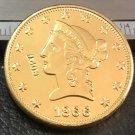 1 Pcs 1866-P Liberty Head $10 Ten Dollar Copy Coins- For Collection
