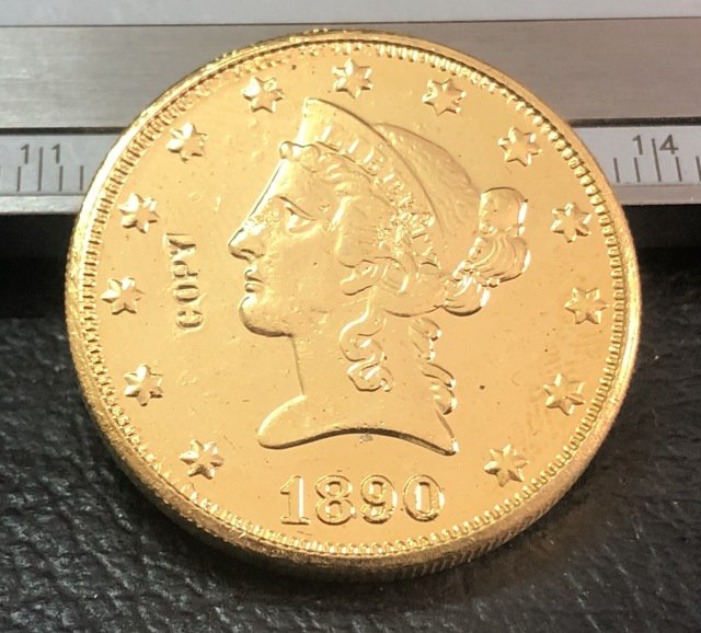 1 Pcs 1890-P Liberty Head $10 Ten Dollar Copy Coins- For Collection