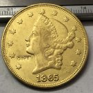 1 Pcs 1865 Liberty Head $20 Twenty Dollar Copy Coins (Without Copy Logo)