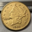 1 Pcs 1860 Liberty Head $20 Twenty Dollar Copy Coins (Without Copy Logo)