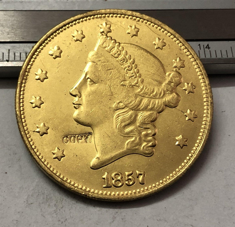 1 Pcs 1857 Liberty Head $20 Twenty Dollar Copy Coins  For Collection