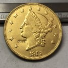 1 Pcs 1857 Liberty Head $20 Twenty Dollar Copy Coins (Without Copy Logo)