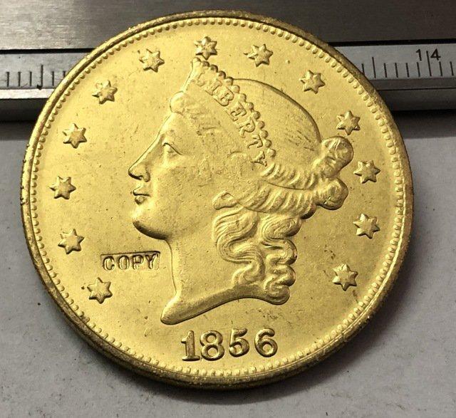 1 Pcs 1856 Liberty Head $20 Twenty Dollar Copy Coins  For Collection