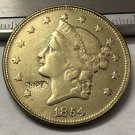 1 Pcs 1854 Liberty Head $20 Twenty Dollar Copy Coins  For Collection