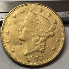1 Pcs 1853 Liberty Head $20 Twenty Dollar Copy Coins  For Collection