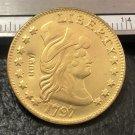 1 Pcs 1797 Turban Head $5 Five Dollar Half Eagle Copy Coins  For Collection