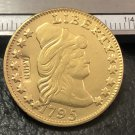1 Pcs 1795 Turban Head $5 Five Dollar Half Eagle And Shield Copy Coins (Without Copy Logo)