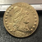 1 Pcs 1796 Turban Head $5 Five Dollar Half Eagle And Shield Copy Coins (Without Copy Logo)